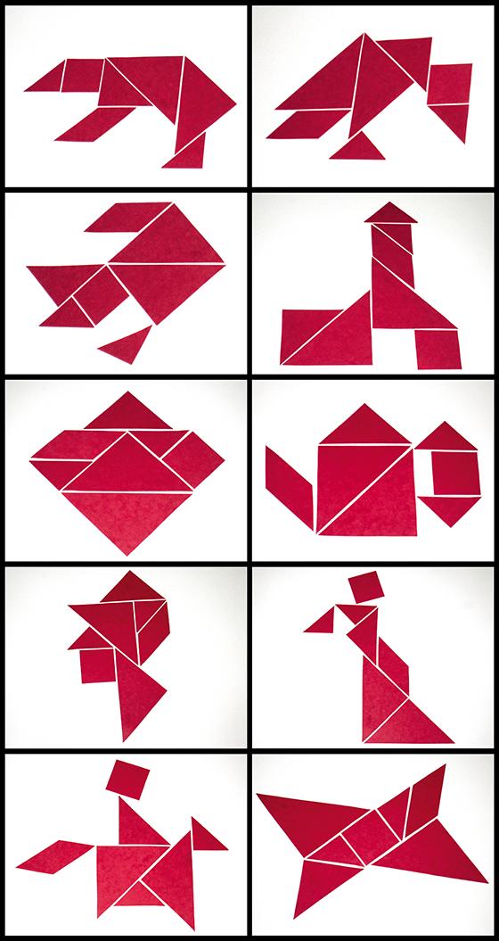 Solutions des tangrams