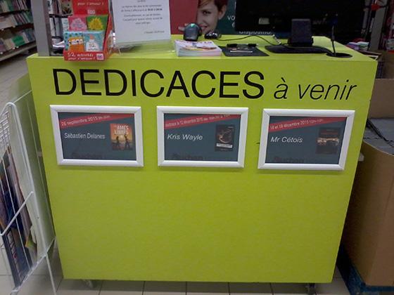 Kris Wayle en dédicaces à Auchan Mériadeck