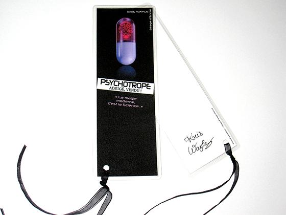 Marque-page de Psychotrope adjugé, vendu !